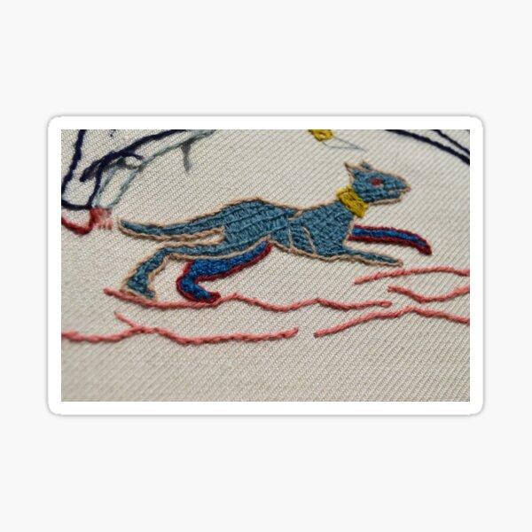 Running hound Sticker