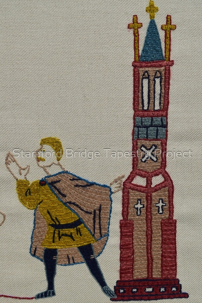 Tower lookout by Stamford Bridge Tapestry Project