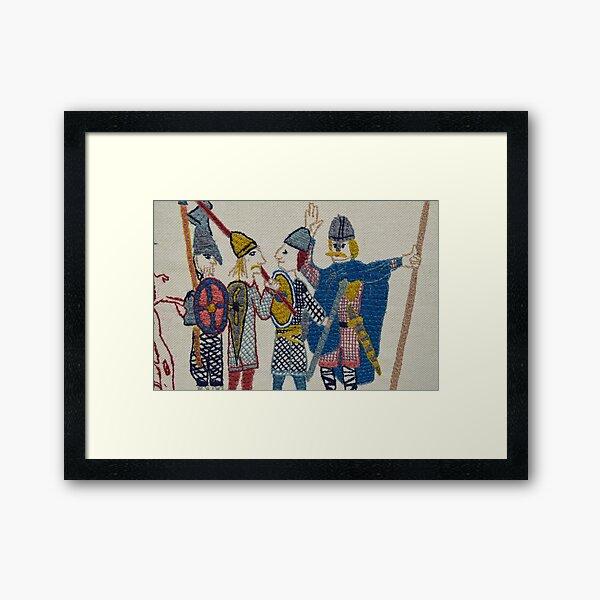 Viking huddle Framed Art Print