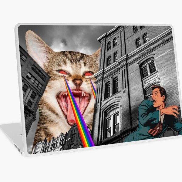 THE CAT STRIKES BACK Laptop Skin