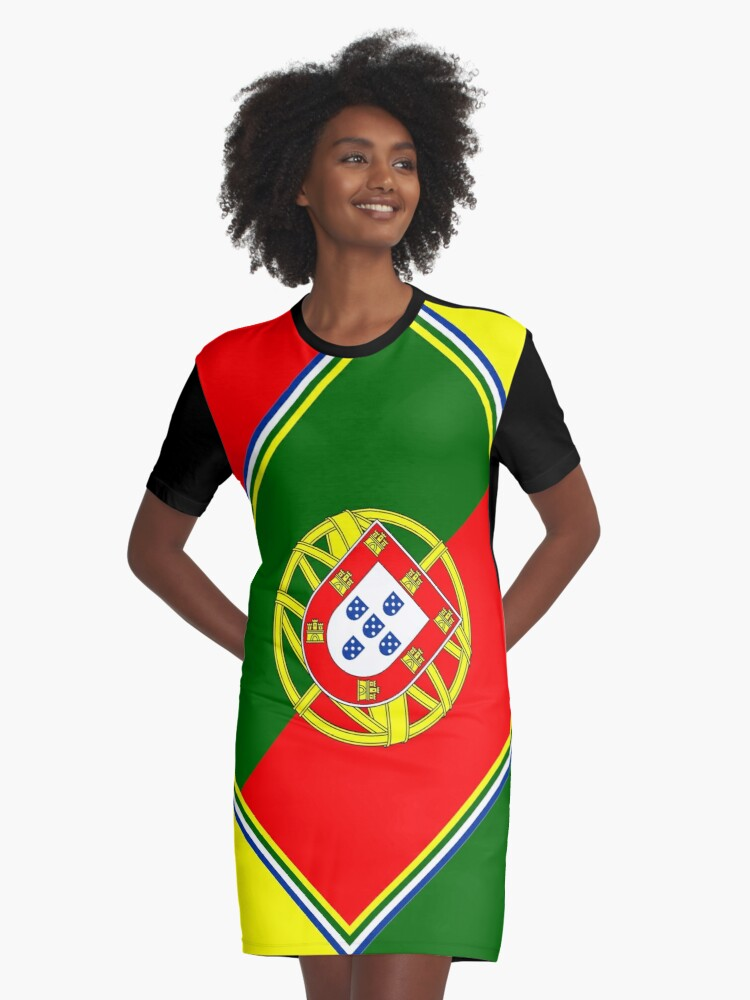 PORTUGAL-2 Graphic T-Shirt Dress Front