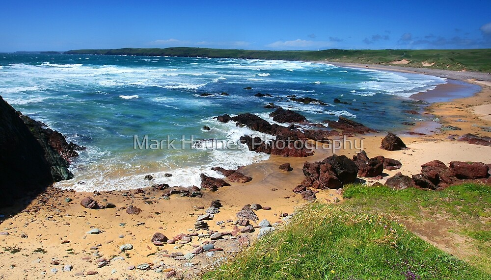 Onshore Turqoise - Freshwater West by Mark Haynes Photography