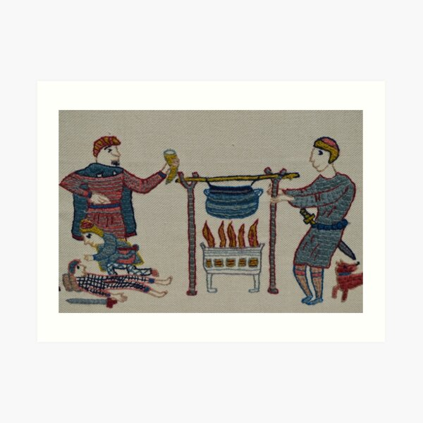 Cooking for the troops Art Print