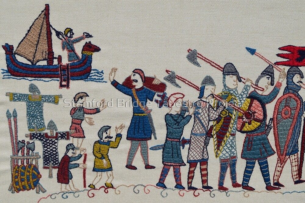 Leaving for Stamford Bridge by Stamford Bridge Tapestry Project