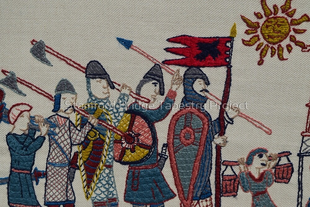 Marching to Stamford Bridge by Stamford Bridge Tapestry Project