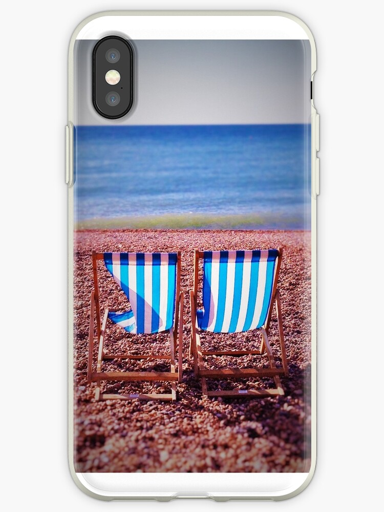 Deck Chairs on Beach by llama247