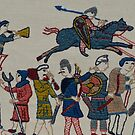 Riders and walkers by Stamford Bridge Tapestry Project