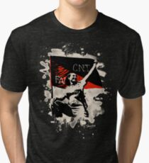 Anarchy Flag Woman - bleached look Tri-blend T-Shirt