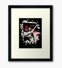 Anarchy Flag Woman - bleached look Framed Print