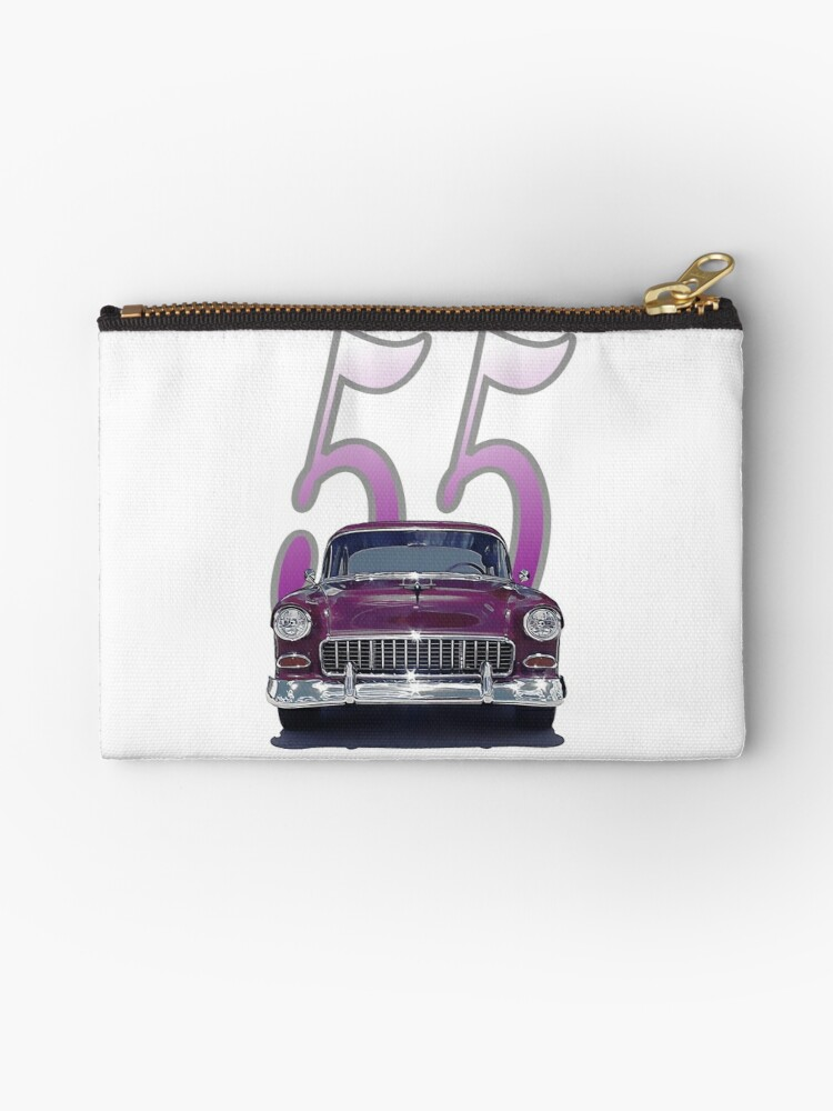 1955 Chevy - Front View - Totes, Sleeves, Pillow, Stickers by seansdigitalart