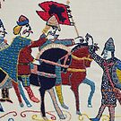 Harald advances by Stamford Bridge Tapestry Project
