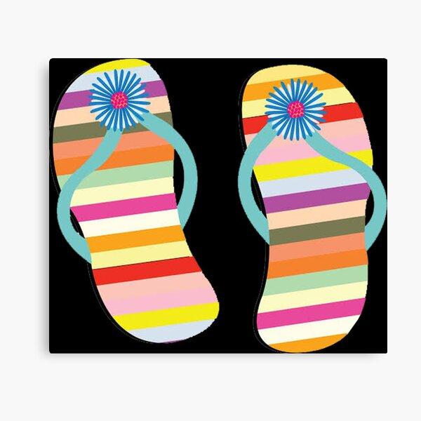Cute Rainbow Sandals Canvas Print