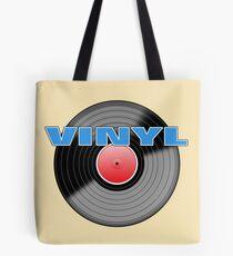 Vinyl LP Record Logo Sticker Tote Bag