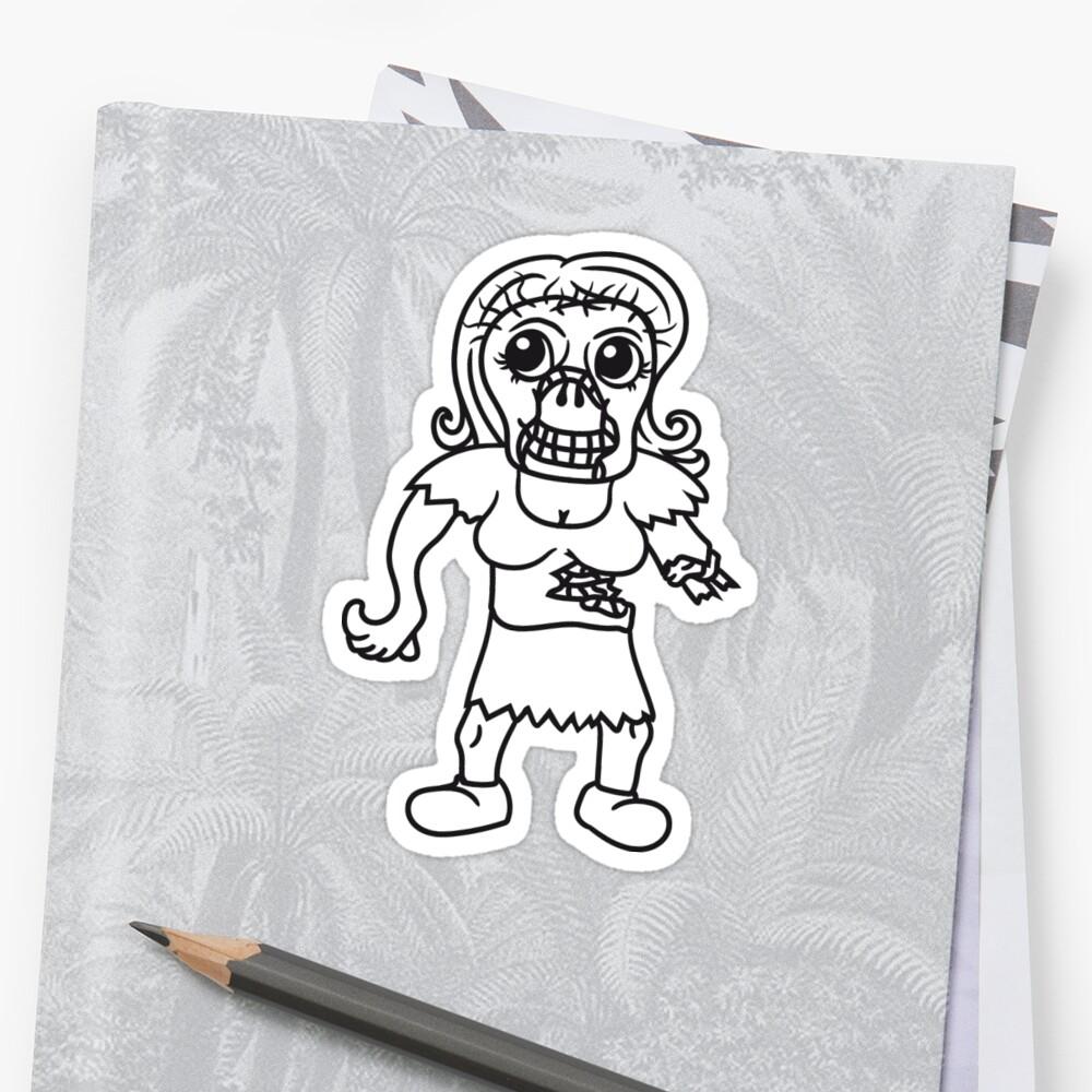 woman girl girl undead monster halloween horror comic cartoon design zombie by Motiv-Lady