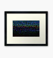 Rainbow pixel Framed Print