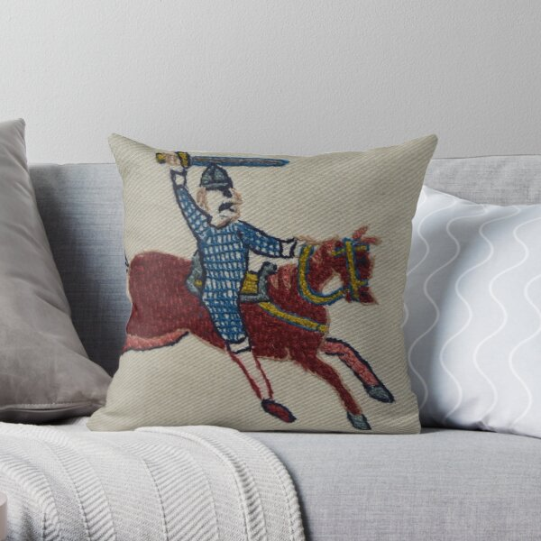 Into the fray Throw Pillow