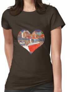 Crail Harbour Womens Fitted T-Shirt