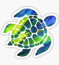 Tye Dye Turtle Sticker