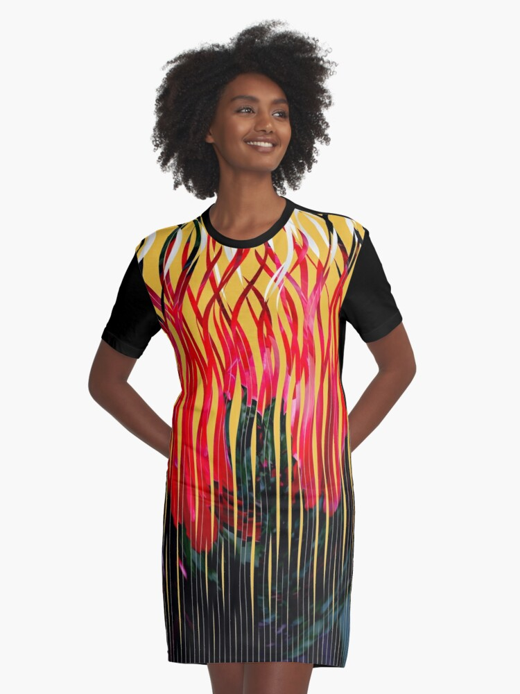 Shreds Graphic T-Shirt Dress Front