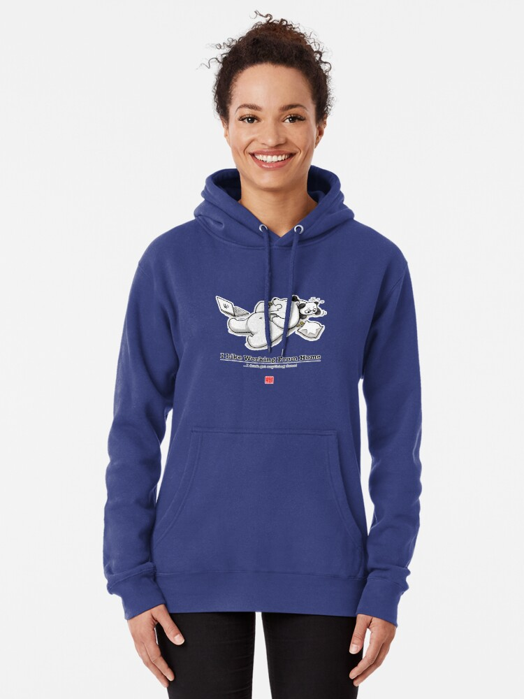 Alternate view of I Like Working From Home Pullover Hoodie