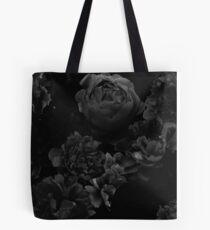 Black Floral Pattern Tote Bag