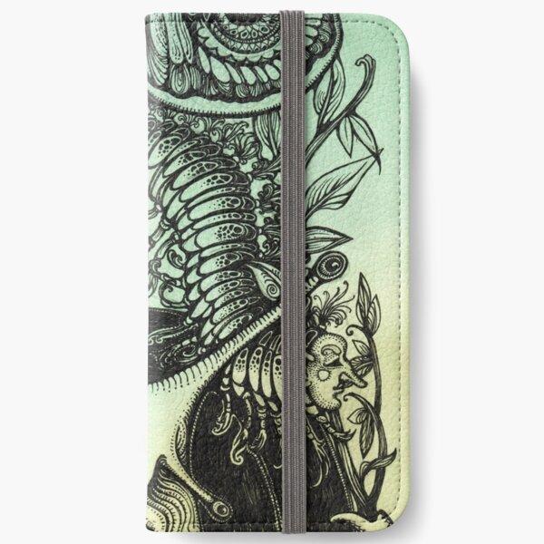 Green Moths iPhone Wallet