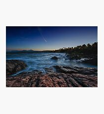 Comet at sunset Photographic Print