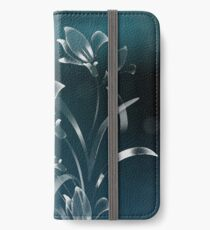 White Lilies in the Moonlight iPhone Wallet/Case/Skin