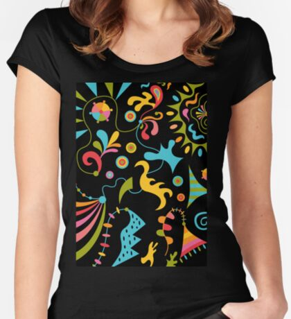 Upbeat Women's Fitted Scoop T-Shirt