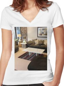 Guest Room, Living Room Women's Fitted V-Neck T-Shirt