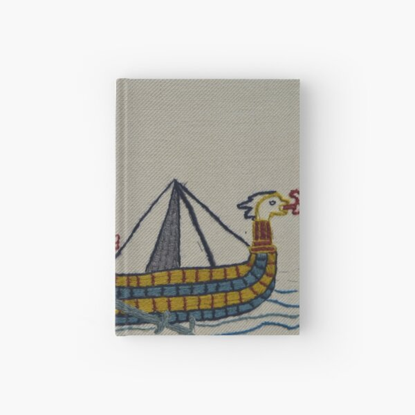 Viking ships arriving Hardcover Journal