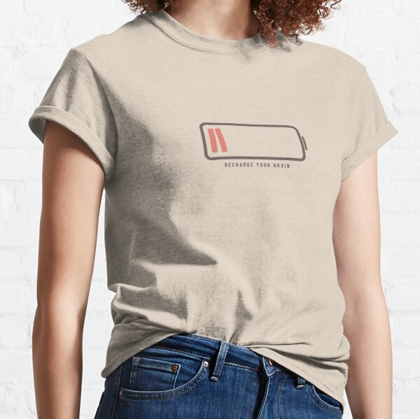 Recharge Your Brain with Books (Latte Edition) Classic T-Shirt