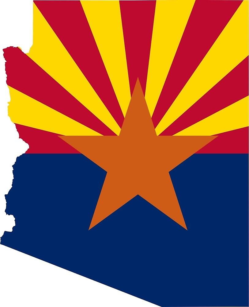 Flag Map of Arizona  by abbeyz71