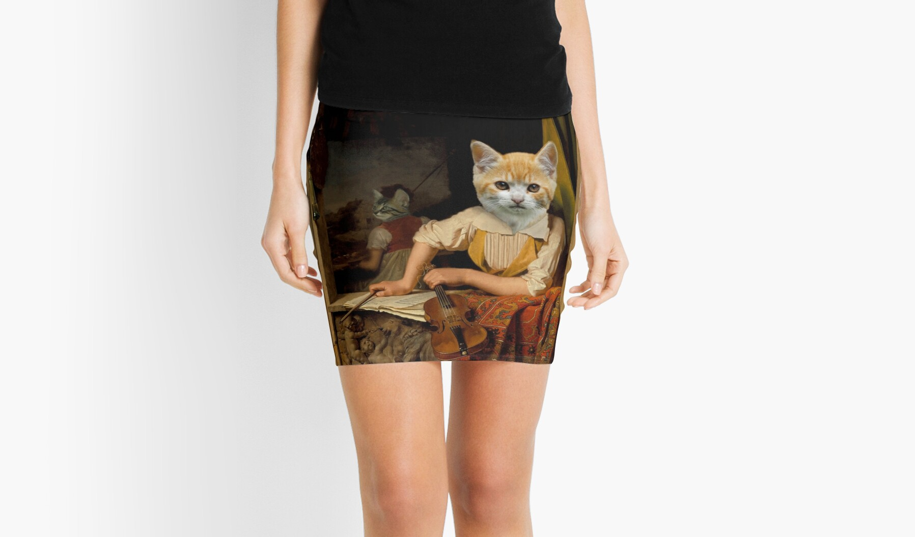 The Kitten Violinist - Anthropomorphic Composite by TheCurators