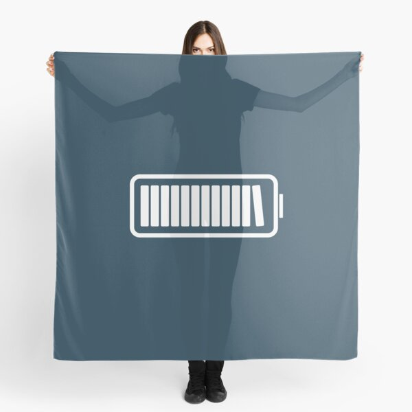 Brain Fully Recharged with Books (Minimalist Navy Edition) Scarf