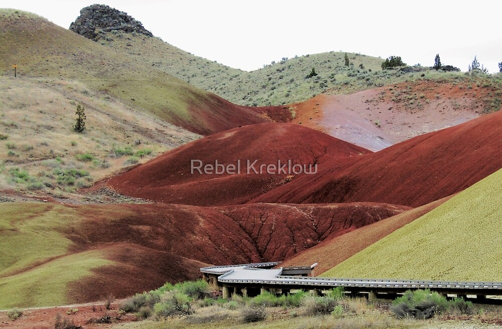 A Walk Back In Time - Painted Cove Boardwalk, Painted Hills Unit, John Day Fossil Beds National Monument, Wheeler County, OR by Rebel Kreklow