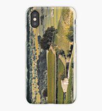 vintage vineyard landscape iPhone Case