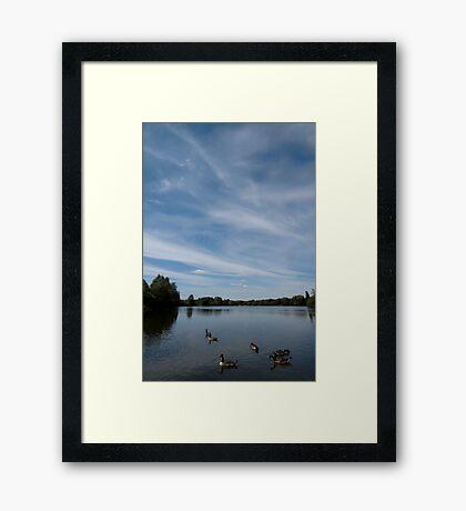 Thatcham Lakes Framed Print