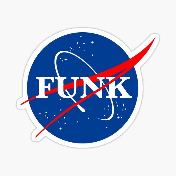 Nasa funk style logo  Sticker