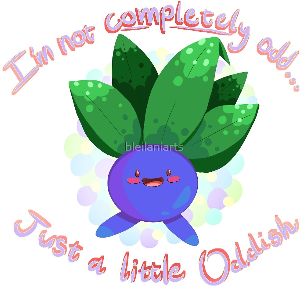 Just a little Oddish by bleilaniarts