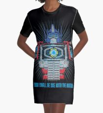 One with the Matrix Graphic T-Shirt Dress