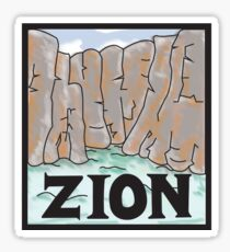Zion Narrows Sticker