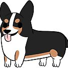 Blackhead Tricolor Corgi by alyssadyerart