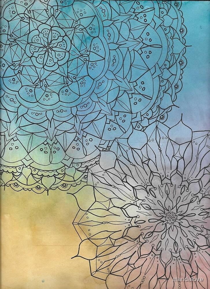 Mandalove Watercolor Vector by mandalove