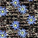 blue daisy  by Julia  Raath