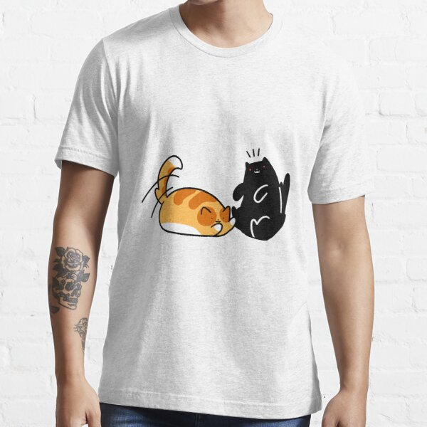 Playful Tabby and Black Cat Essential T-Shirt