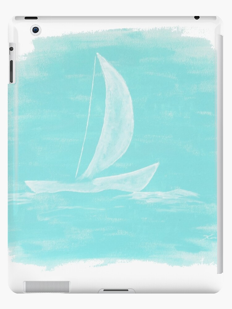 Blue Sailing Painting by karriezenz