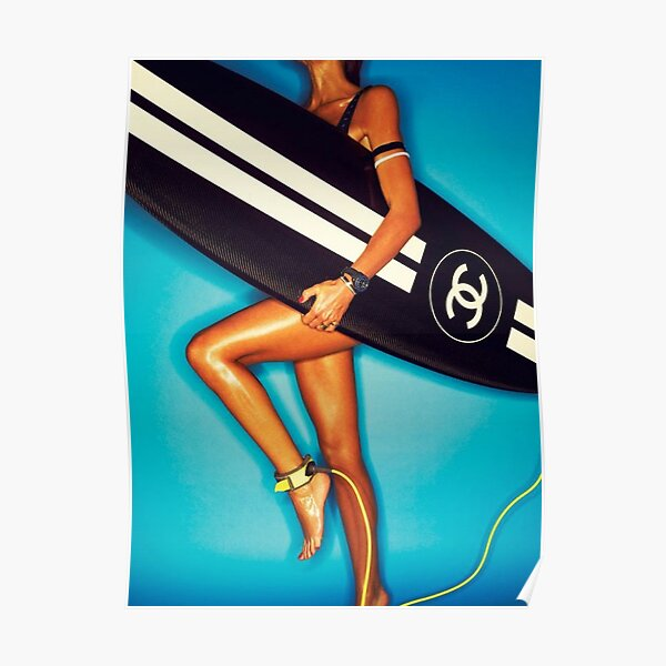 Surfboard Chanel Poster