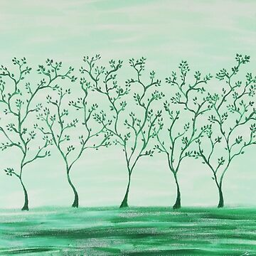 Row of Green Trees by karriezenz
