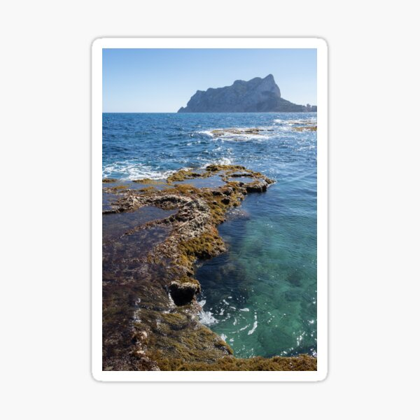 Clear water and the Peñón de Ifach in Calpe Sticker